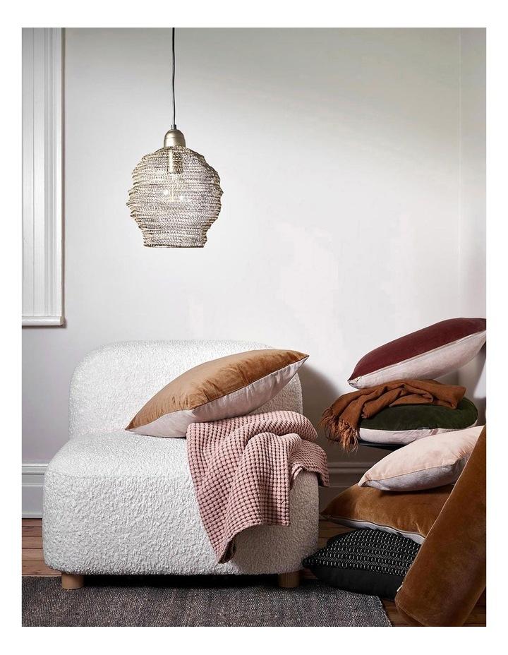 Luxury Velvet Rectangle Cushion in Mahogany image 2