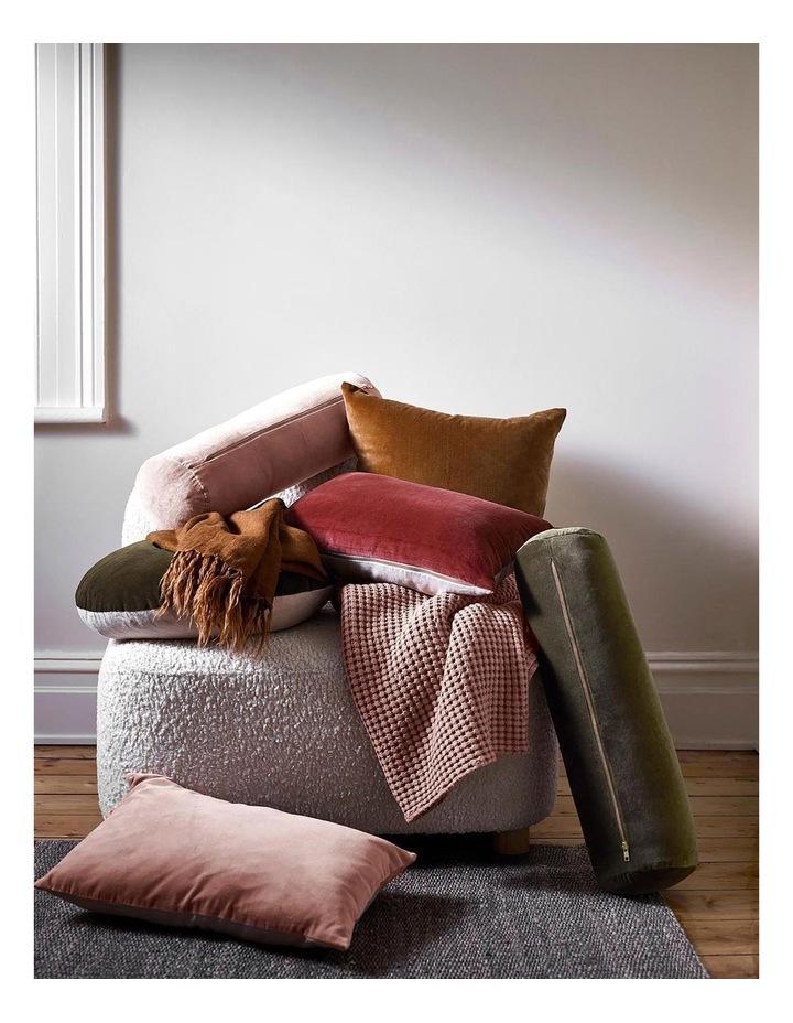 Luxury Velvet Rectangle Cushion in Mahogany image 3