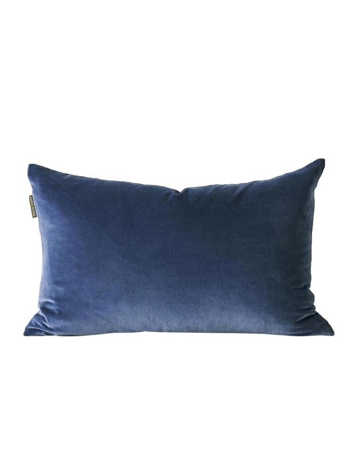 Luxury Velvet Rectangle Cushion in Bijou Blue image 1