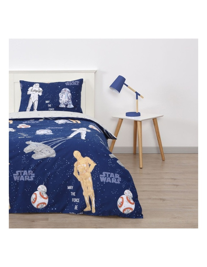 Star Wars Quilt Cover Set in Blue image 1