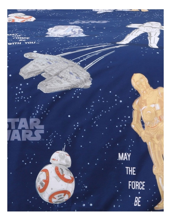 Star Wars Quilt Cover Set in Blue image 2