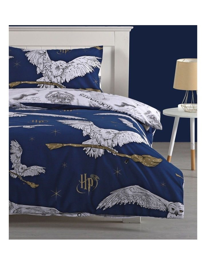 Harry Potter Quilt Cover Set in Navy image 1