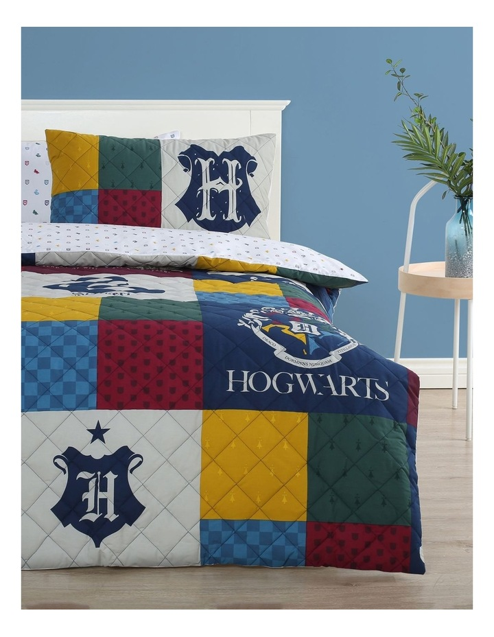 Harry Potter Quilted Quilt Cover Set in Multi image 1
