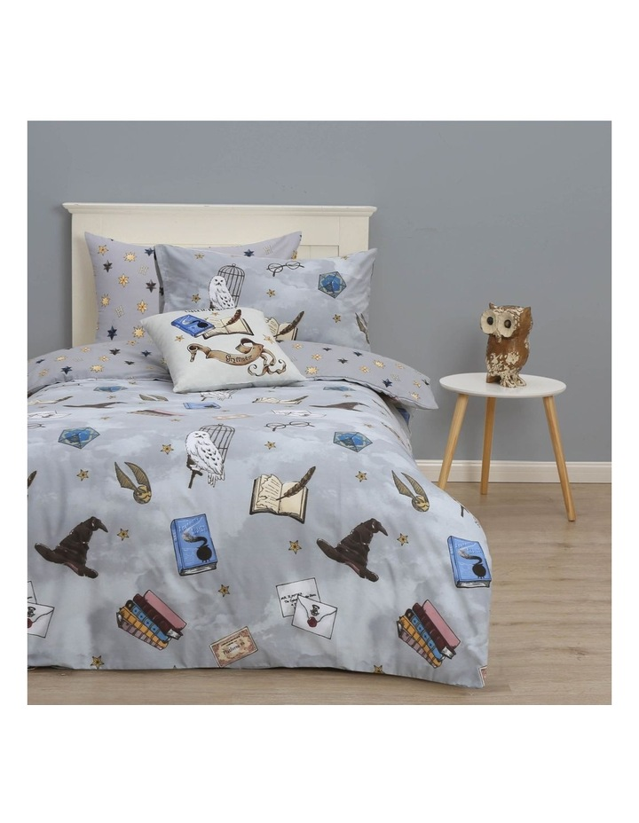 Harry Potter Collectibles Quilt Cover Set in Grey image 1