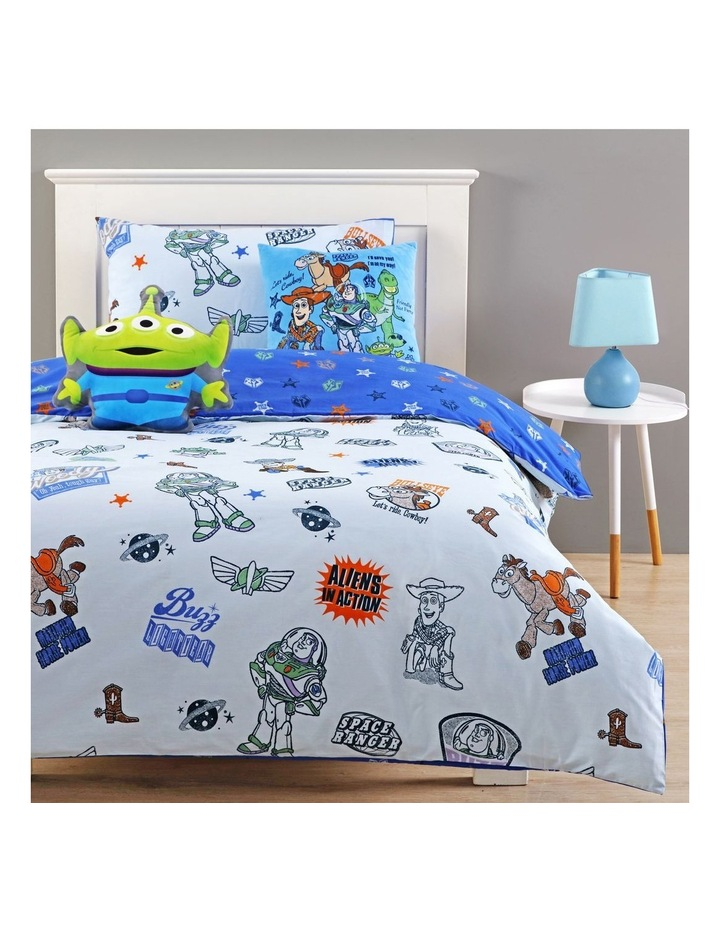 Toy Story Buzz and Woody Cushion in Blue image 2