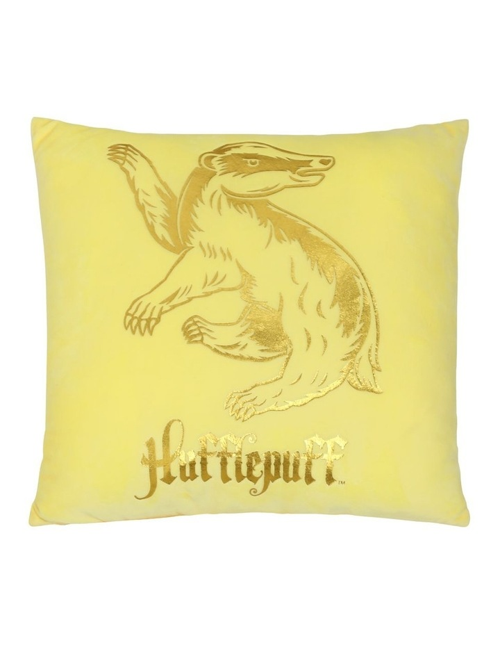 Harry Potter Hufflepuff Square Cushion in Gold image 1