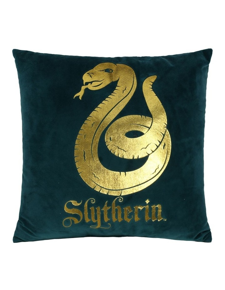 Harry Potter Slytherin Square Cushion in Green image 1