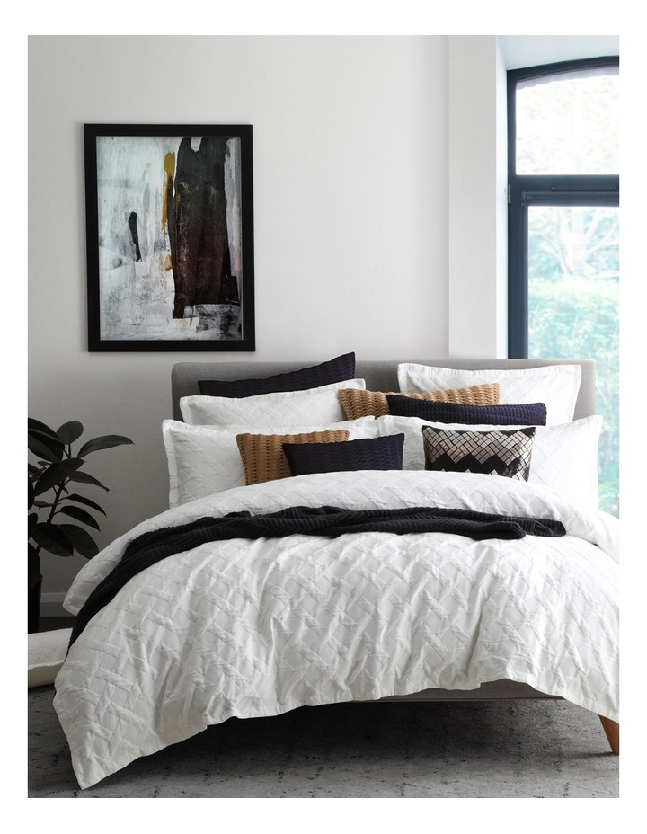 Chiswick Quilt Cover Set in White image 1