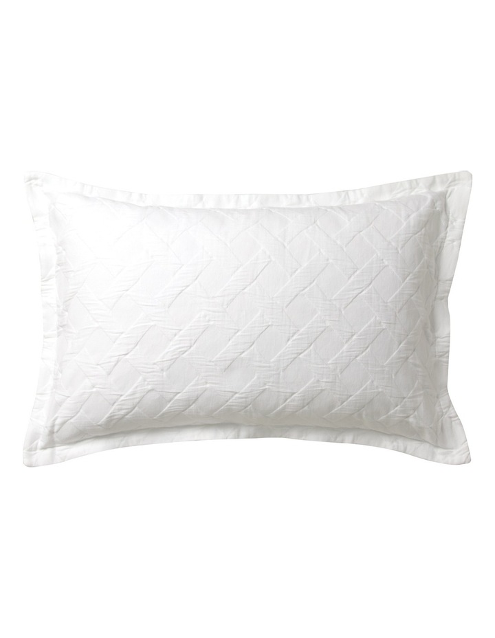 Chiswick Quilt Cover Set in White image 4