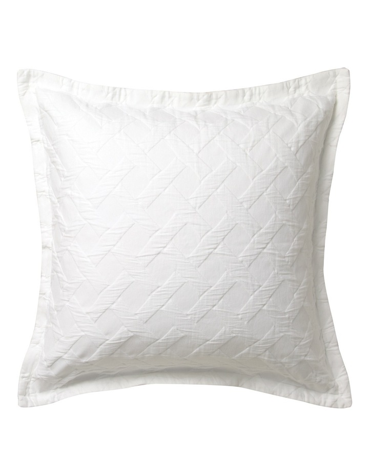 Chiswick Quilt Cover Set in White image 5