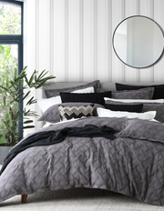 Chiswick Quilt Cover Set in Charcoal