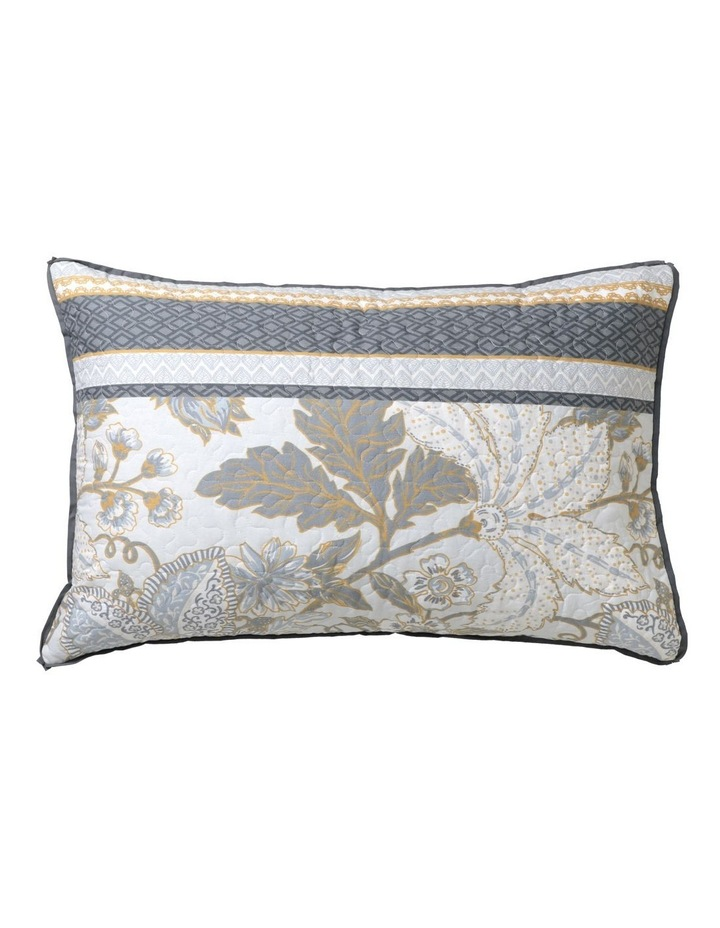 Peyton Quilt Cover Set in Silver image 4