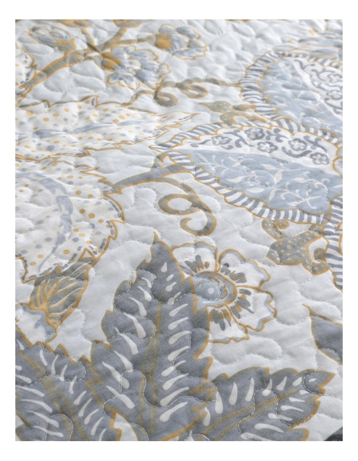 Peyton Quilt Cover Set in Silver image 6