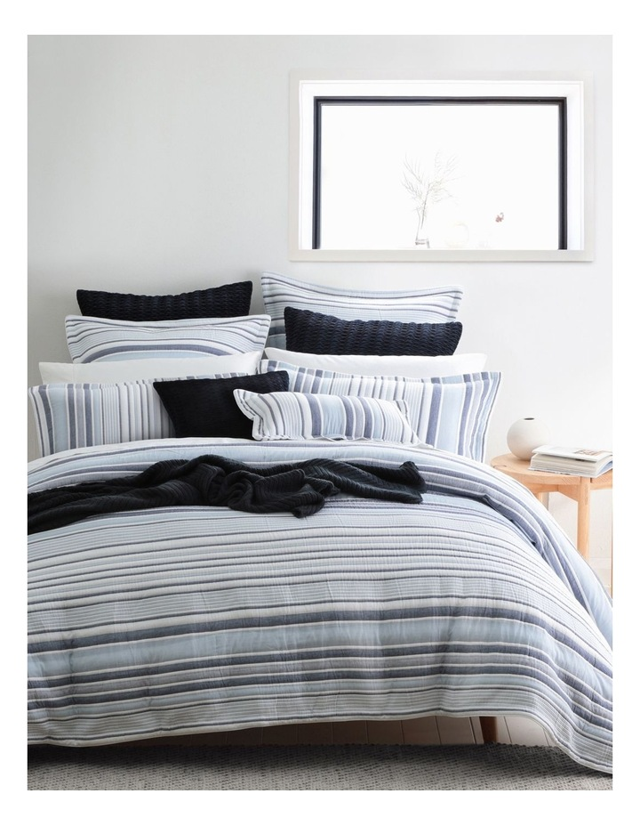Orson Quilt Cover Set in Blue image 1