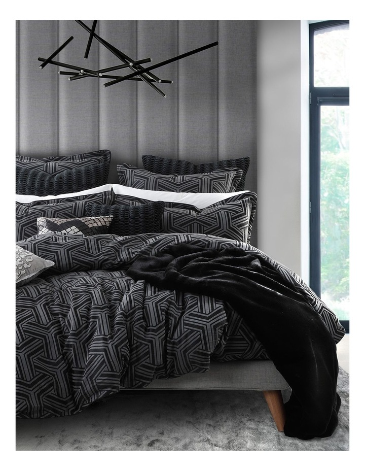 Bellamy Quilt Cover Set in Charcoal image 1