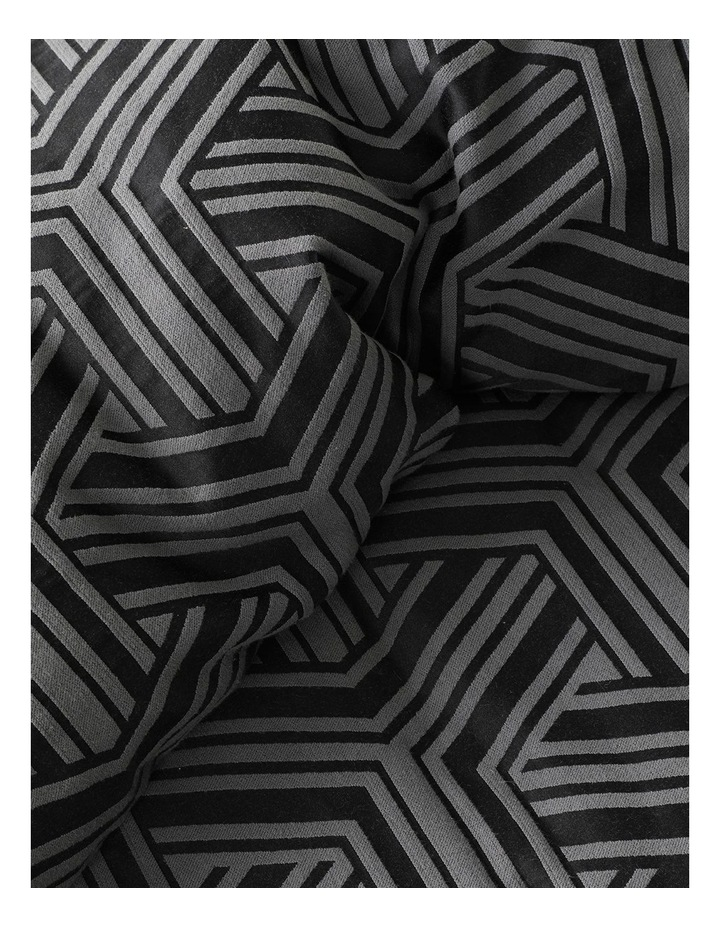 Bellamy Quilt Cover Set in Charcoal image 4