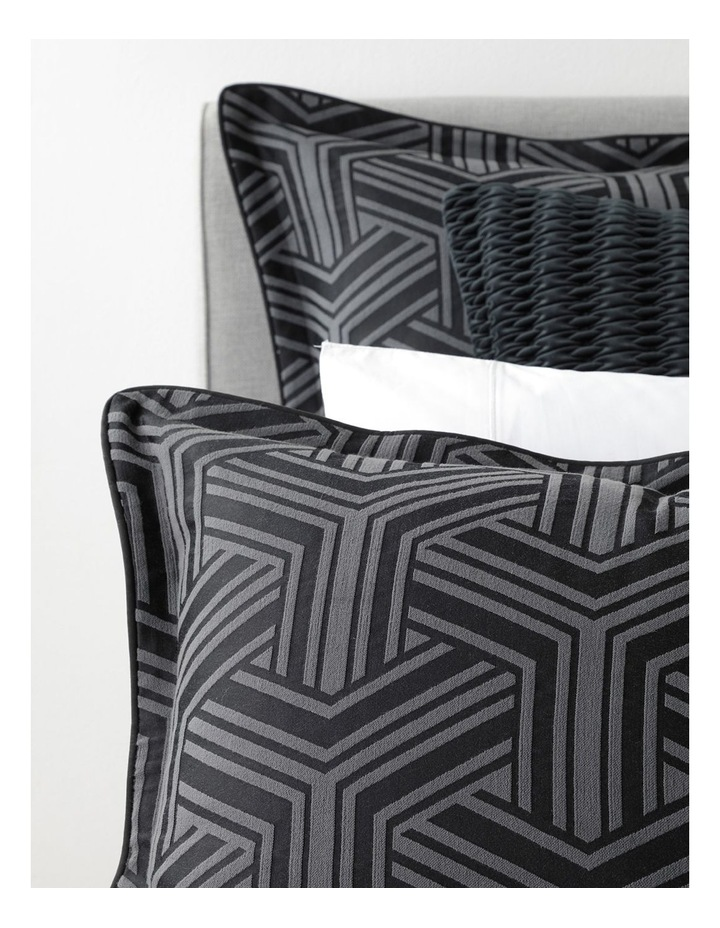 Bellamy Quilt Cover Set in Charcoal image 5