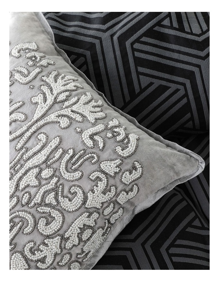 Bellamy Quilt Cover Set in Charcoal image 6