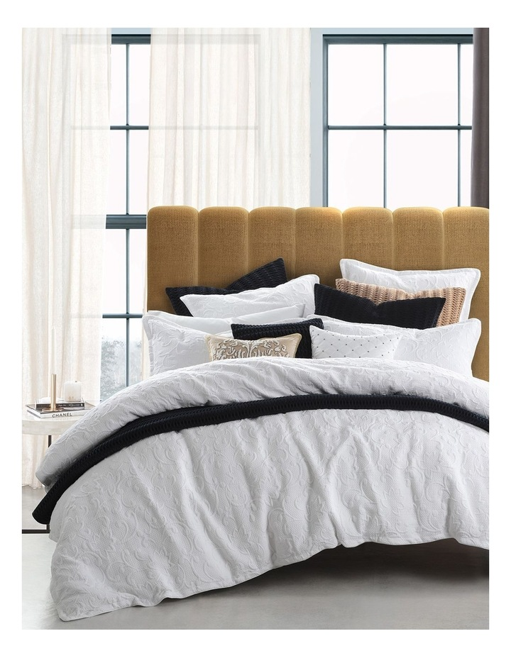 Melrose Woven Quilt Cover Set in White image 1