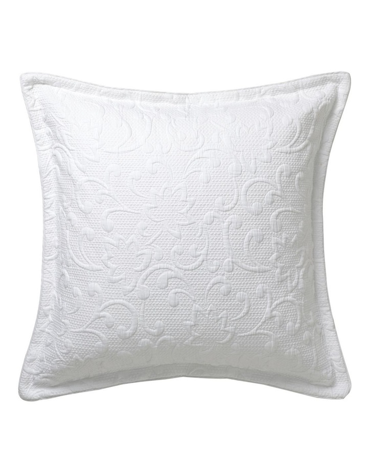 Melrose Woven Quilt Cover Set in White image 3