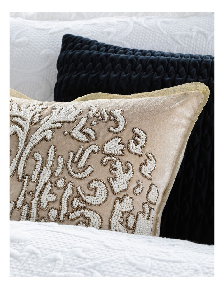 Melrose Woven Quilt Cover Set in White image 5
