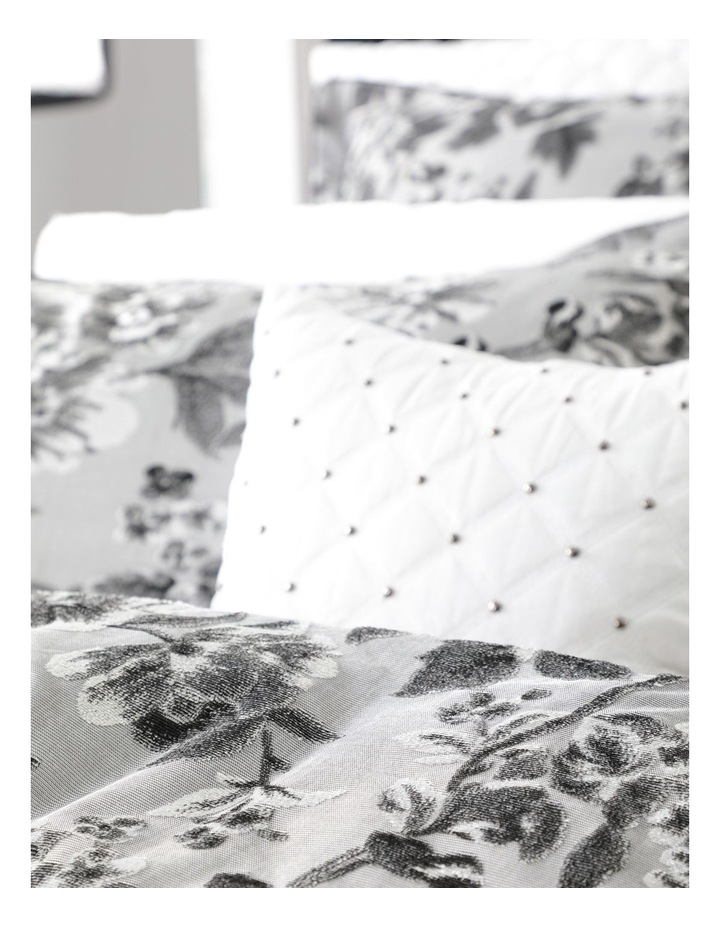 Farrah Quilt Cover Set in Silver image 4