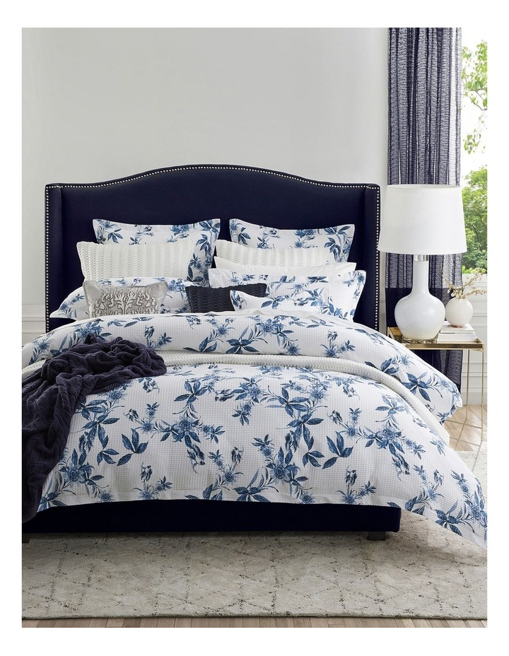 Acacia Quilt Cover Set in Blue image 1