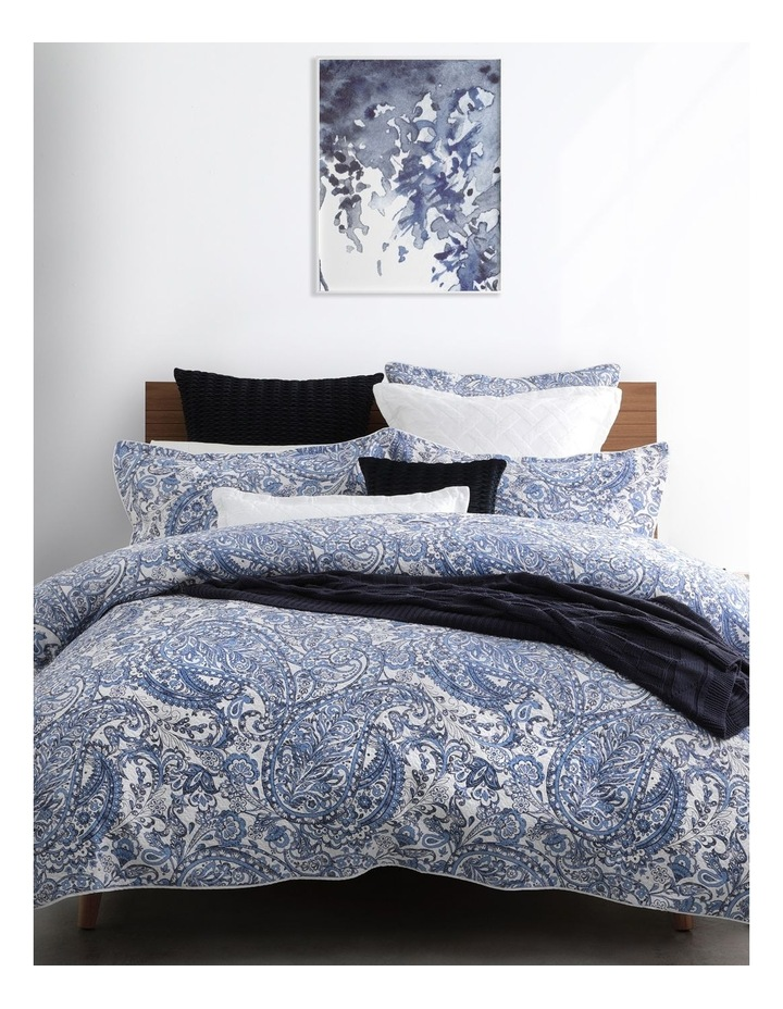 Audenza Quilt Cover Set in Blue image 1