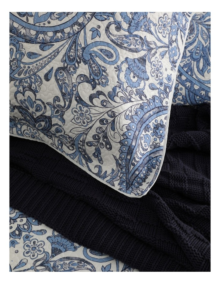 Audenza Quilt Cover Set in Blue image 3