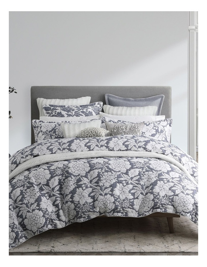 Bethany Quilt Cover Set in Navy image 1