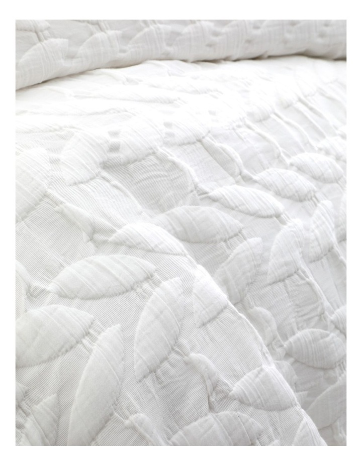 Upton Quilt Cover Set in White image 4