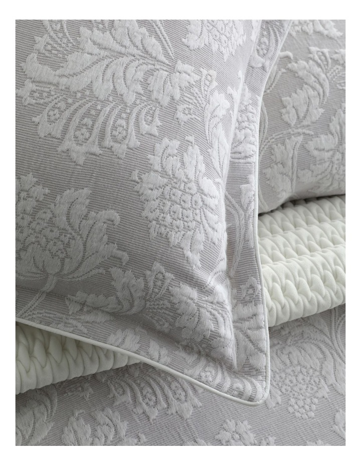 Thea Quilt Cover Set in Silver image 2