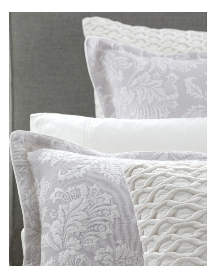 Thea Quilt Cover Set in Silver image 4