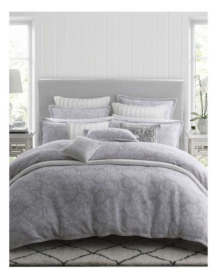 Thea Quilt Cover Set in Silver image 6