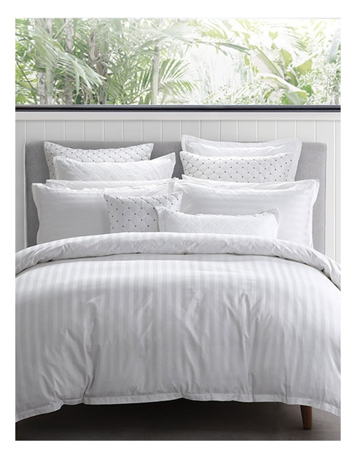 Normandy Quilt Cover in White image 1