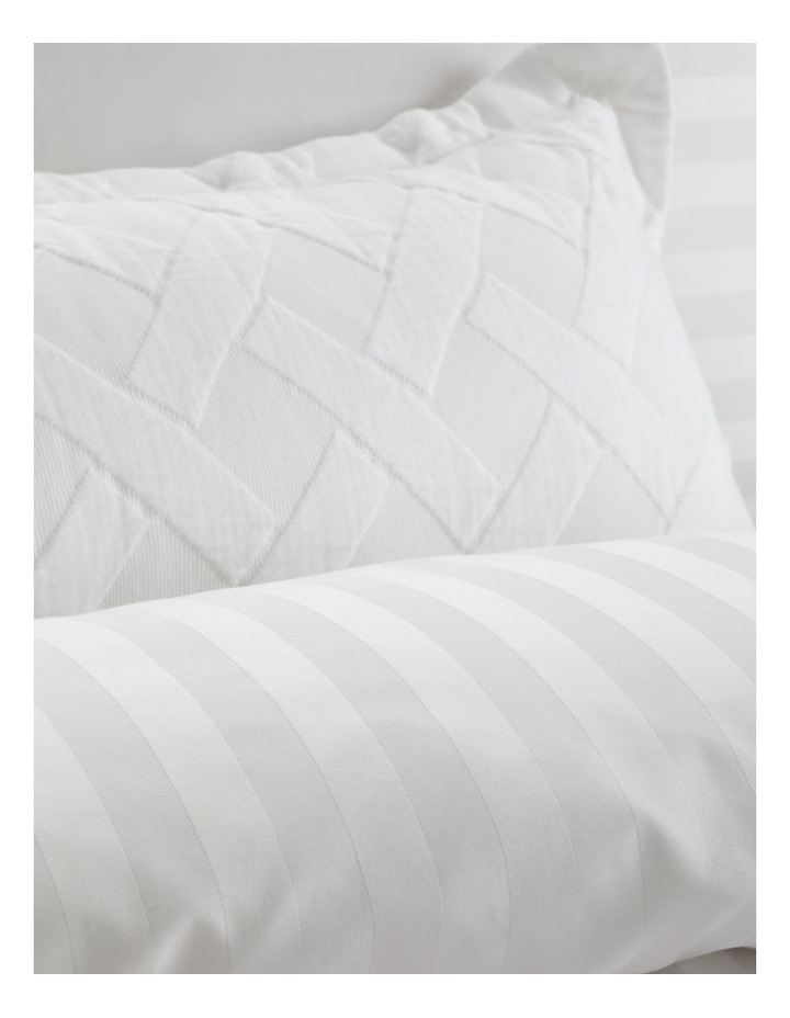 Normandy Quilt Cover in White image 4