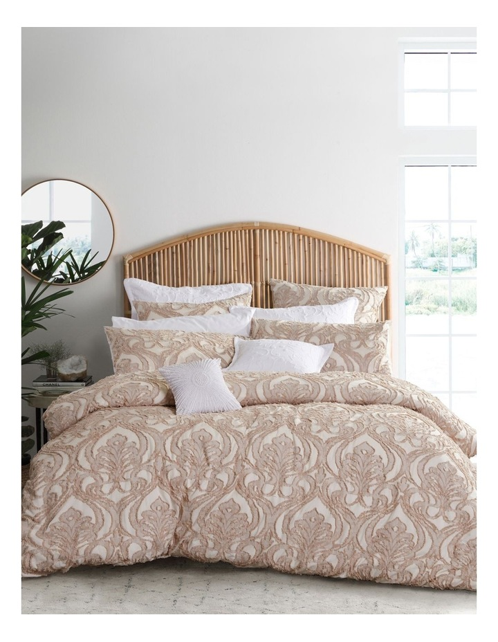 Amari Quilt Cover  Set in Linen image 1