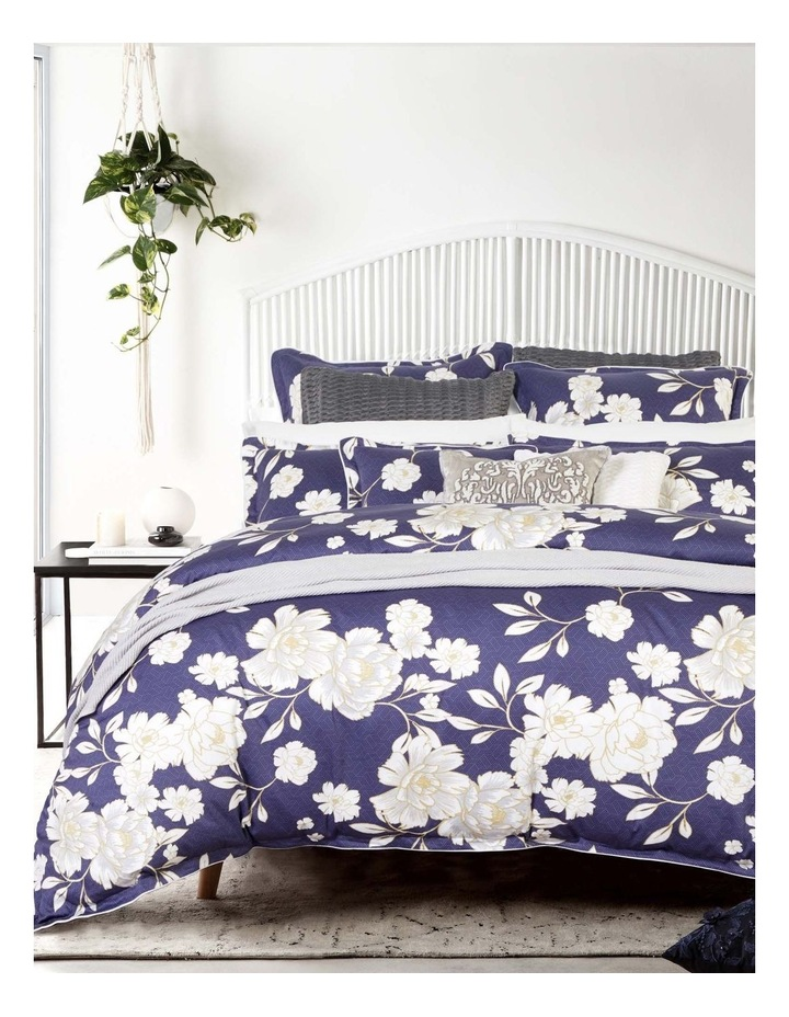 Cali Quilt Cover Set in Navy image 1