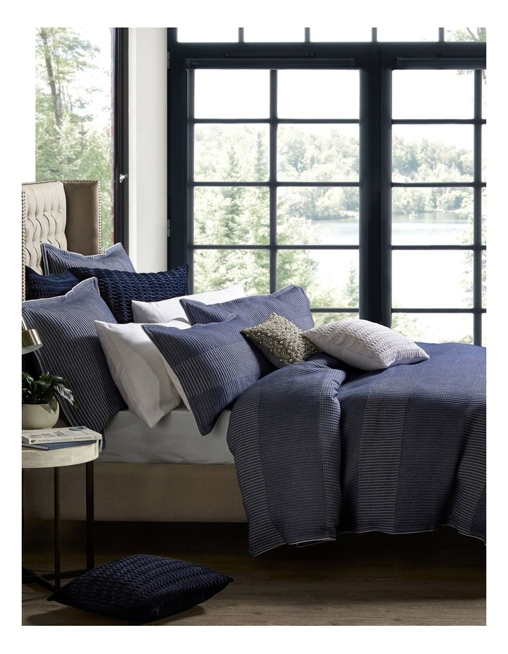 Tier Quilt Cover Set in Navy image 1