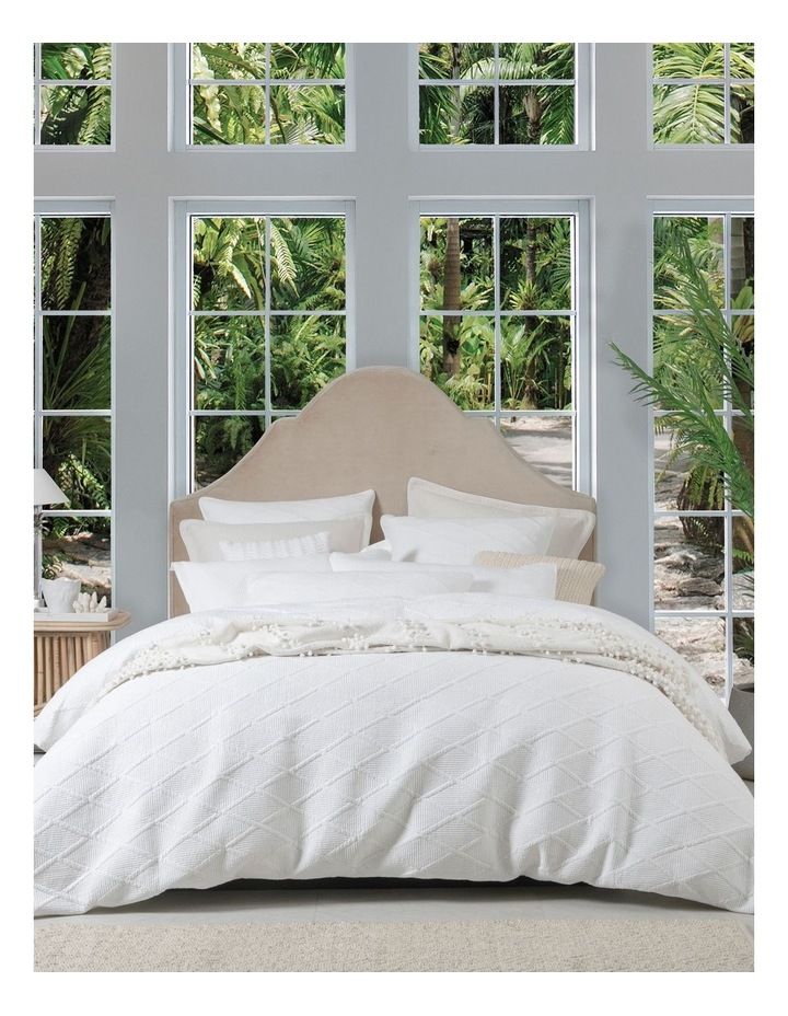 Farley Quilt Cover Set in White image 1