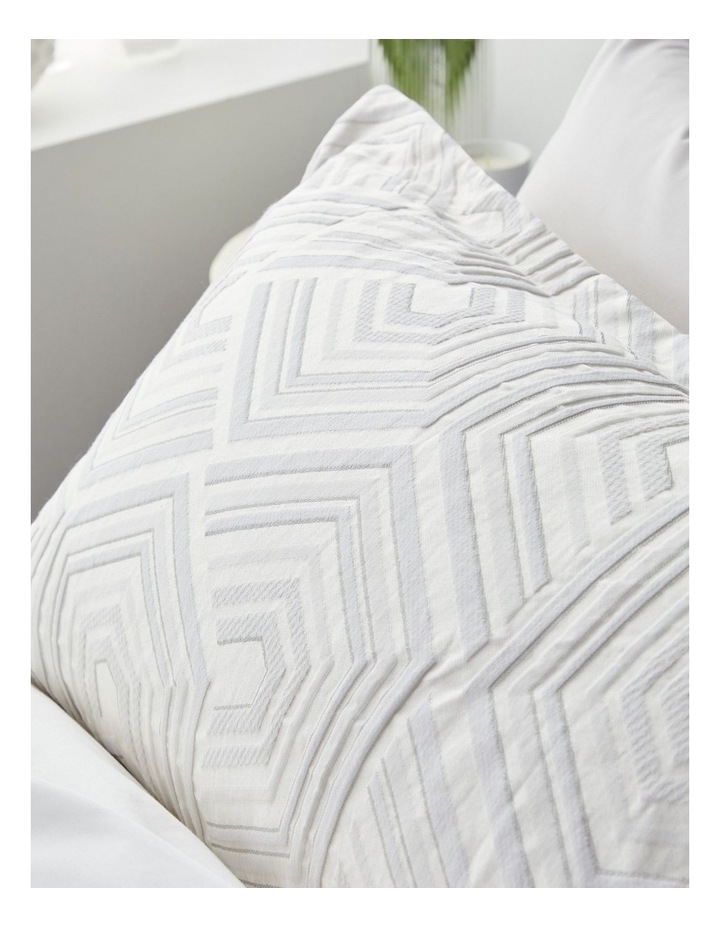 Bree Quilt Cover Set in Silver image 3
