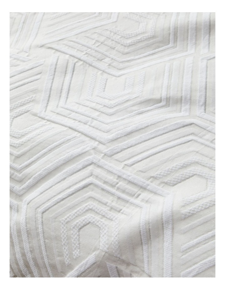 Bree Quilt Cover Set in Silver image 4