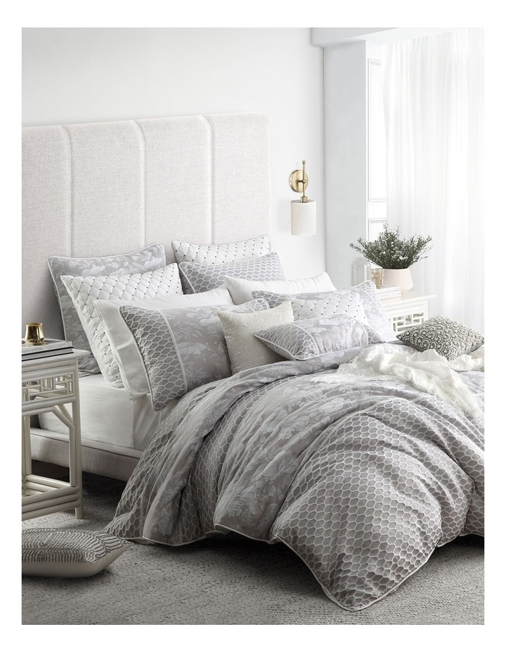 Philippa Quilt Cover Set in Dove image 1
