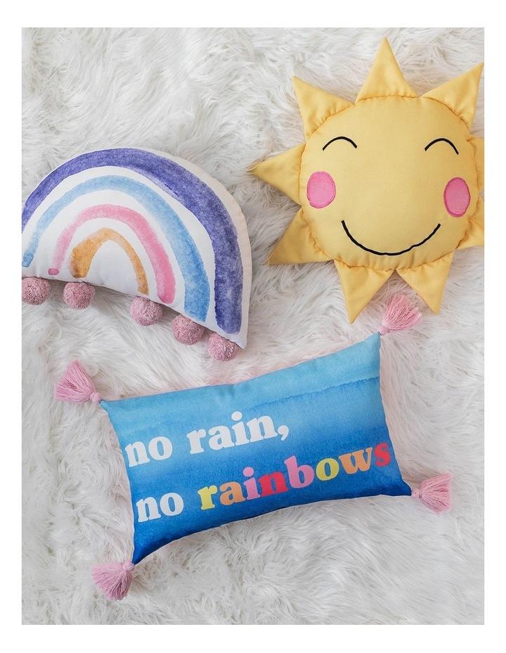 No Rain No Rainbow Cushion in Blue image 3