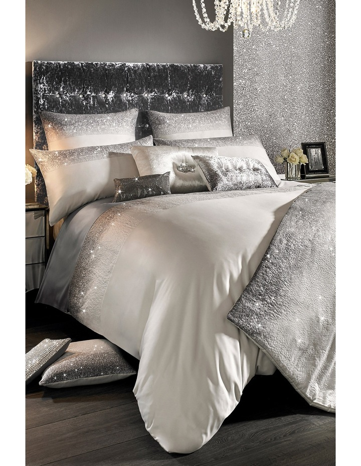 Glitter Fade Quilt Cover in Silver image 1