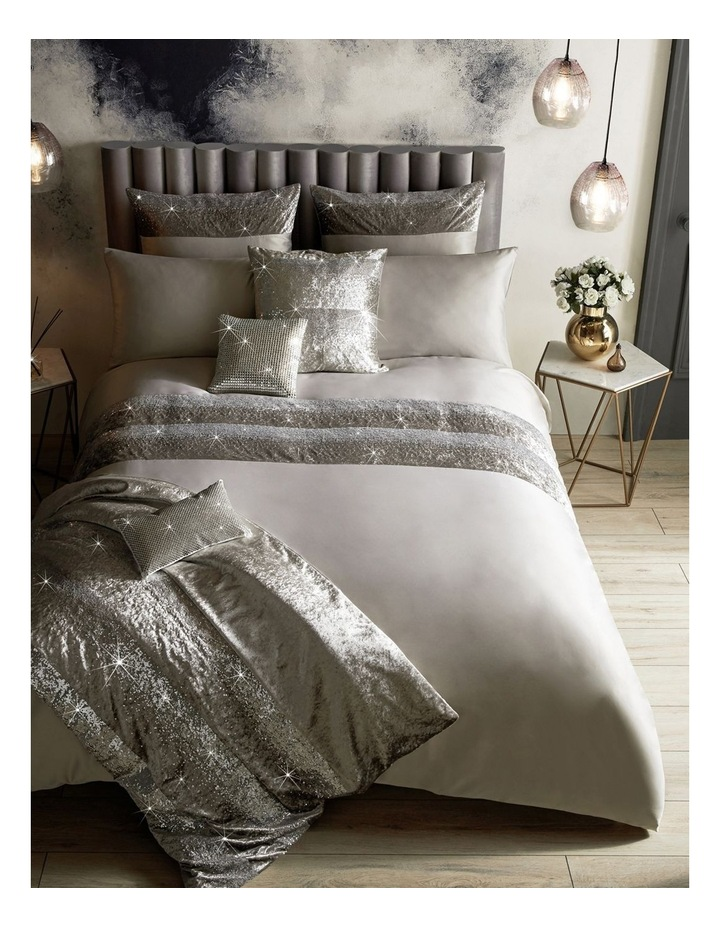 Skyla Quilt Cover in Silver image 1