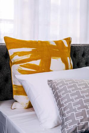 Greg Natale - Paint Brush European Pillowcase in Mustard