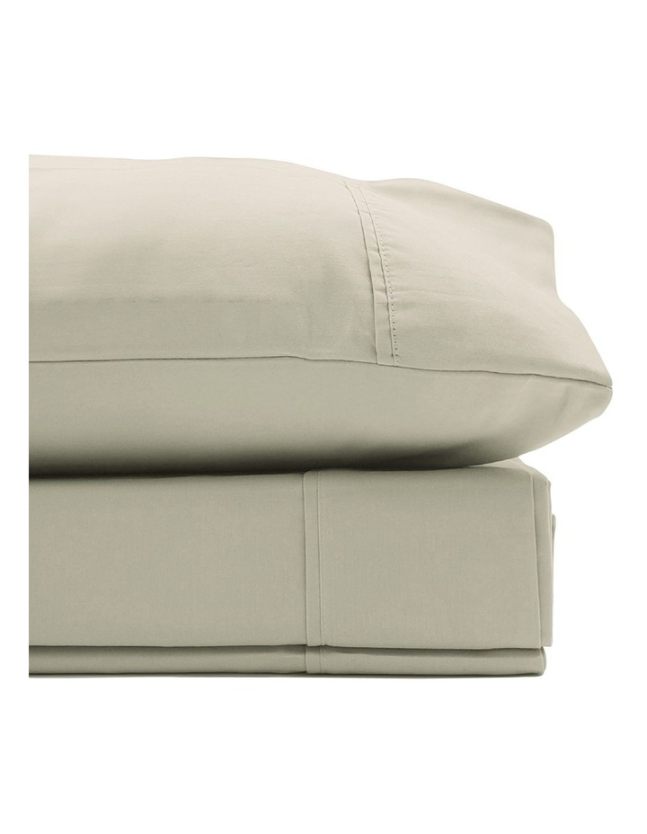 1500TC Cotton Blend Sheet Set in Ivory image 2