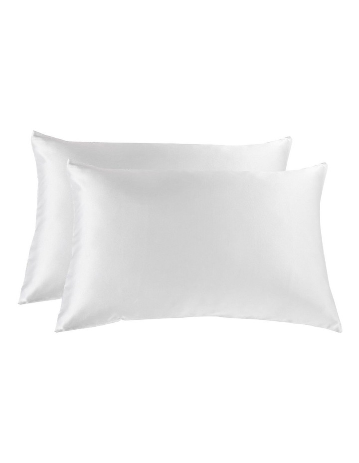 Royal Comfort Mulberry Silk Pillowcase Twin Pack - White image 1