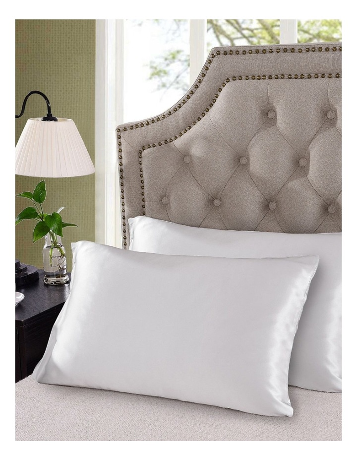 Royal Comfort Mulberry Silk Pillowcase Twin Pack - White image 3
